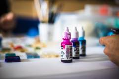 Acrylic inks to give color to art