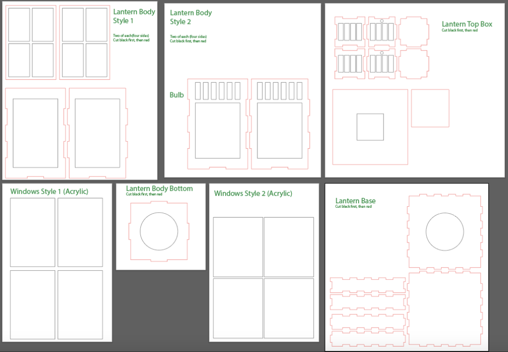 Illustrator file for lantern design.
